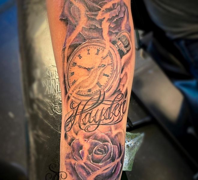 Steph - Clock and Roses