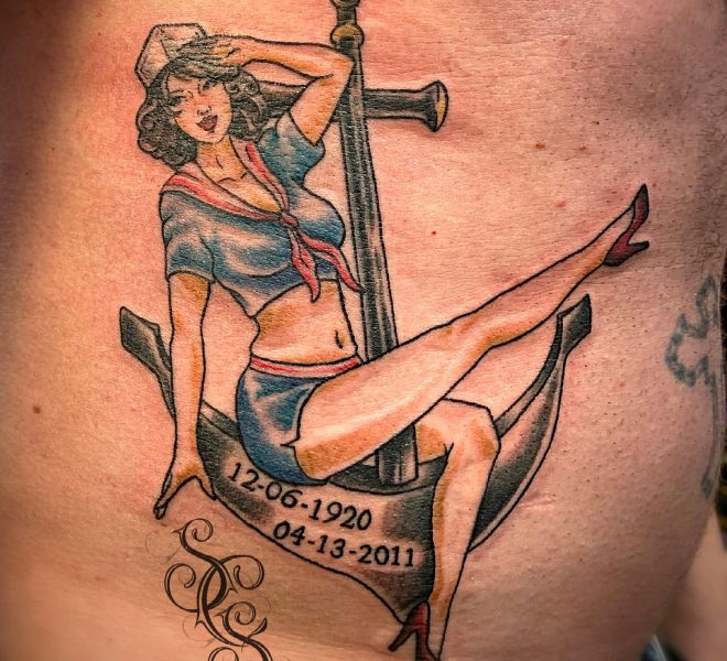 Steph - Sailor Pin Up Anchor